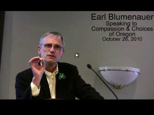 Blumenauer Speaks at Hemlock Society
