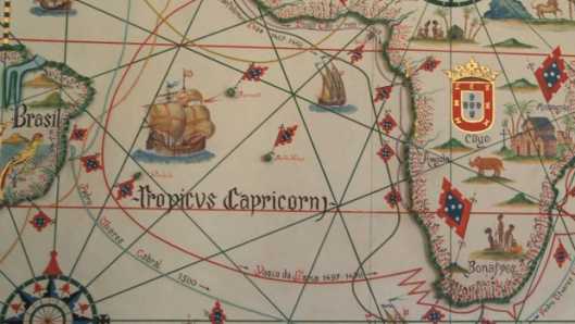 Age of Discover Map, partial, located in Portugal's Maritime Museum